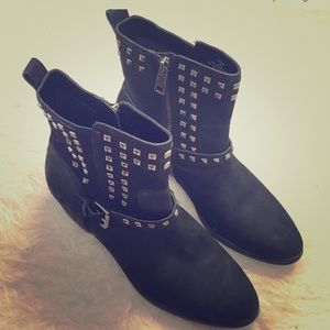 NWOT Ralph Lauren Leather Studded Boots